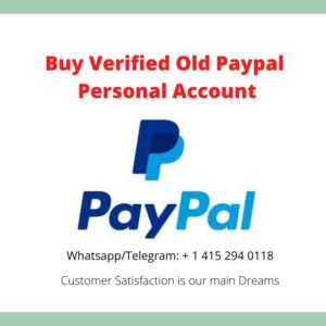 buy old verified real Paypal personal & business account