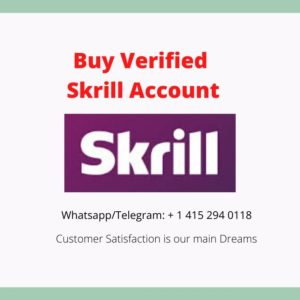 Buy Skrill Verified Account with documents