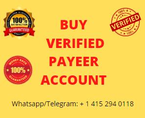 Buy Verified Payeer Accounts - 100% Valid Payeer Account