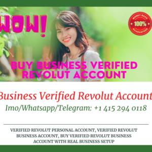 Buy Revolut Business Verified Accounts & Documents