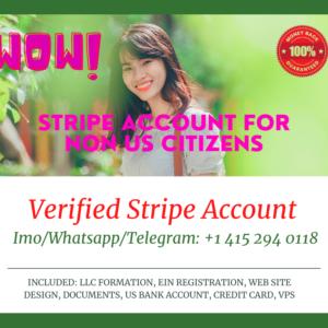 Stripe Verified Account For Non US